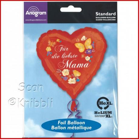 Folienballon Herz für Mama
