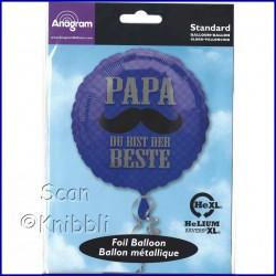 Folienballon für Papa auch für Luftbefüllung