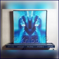 mystic energy creatures interacting Blau mit Ablage