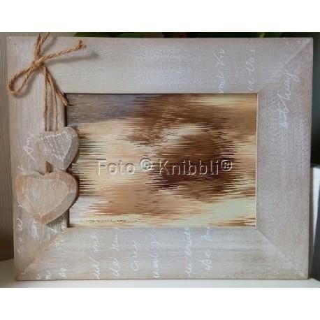 Holz Herz Bilderrahmen 21,5 x 26,5