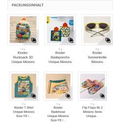 Minion als Knaller Preis Set 1 x für Größe ca 6-8 jährig