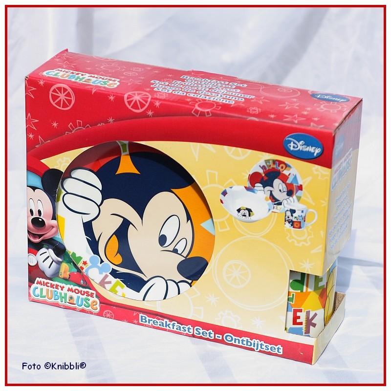 porzellan set disney mickey mouse nr 1 schuessel teller tasse wei bunt. Black Bedroom Furniture Sets. Home Design Ideas