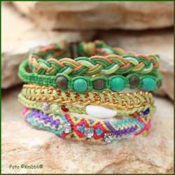 5 fach Armband Grün Bunt