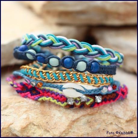 5 fach Armband Blau Bunt