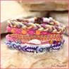 5 fach Armband Altrosa Pink Bunt