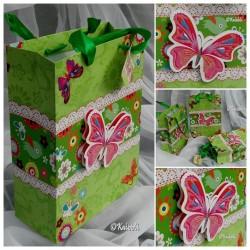 Geschenktüte 3 D Schmetterling