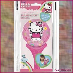 Hand Stabhals Folienballon Hello Kitty
