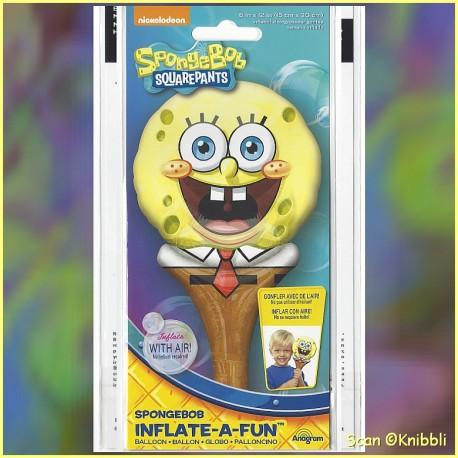 Hand Stabhals Folienballon SpongeBob