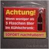 Magnetschild ca 6,5x9 cm Fun Spruch 02