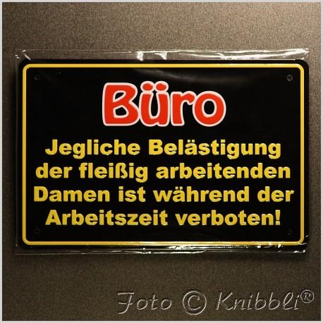 Metall Schild 12,5x19 cm Prägung Spruch 01