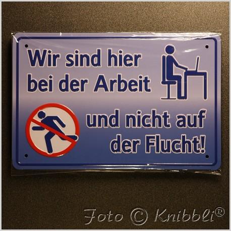 Metall Schild 12,5x19 cm Prägung Spruch 02