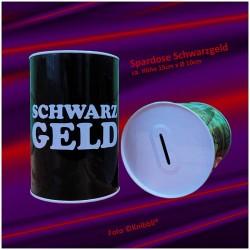 XL-Metall-Spardose Schwarzgeld