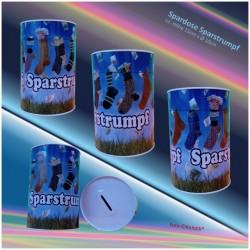Metall-Spardose Sparstrumpf