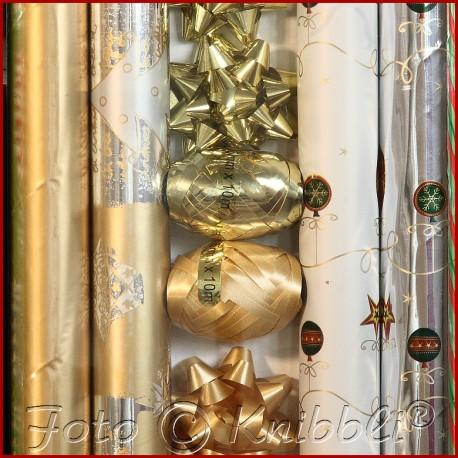 12 tlg Geschenk Verpackungs - Set Gold