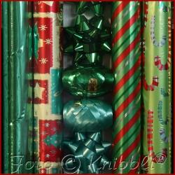 12 tlg Geschenk Verpackungs Set Grün