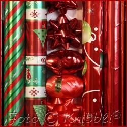 12 tlg Geschenk Verpackungs Set in Rot