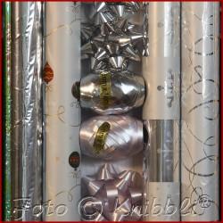 12 tlg Geschenk Verpackungs Set Silber