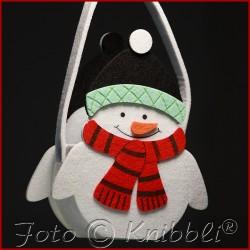 Filz Geschenk Tasche Schneemann