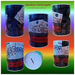 XL-Metall-Spardose Jeans Taschengeld