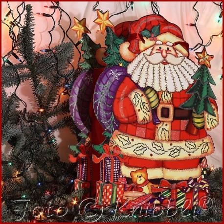 Glitter XL Geschenk Tasche Weihnachtsmann
