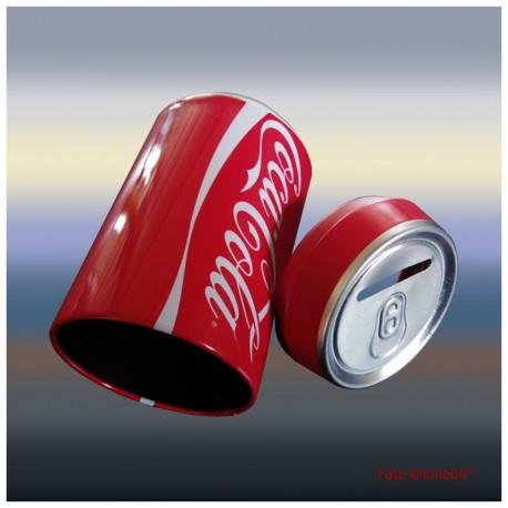 Spardose Coca Cola Öffnung versteckt