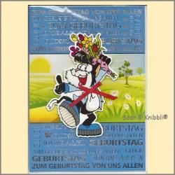 Gruppen Geburtstagskarte Klappkarte XL 01