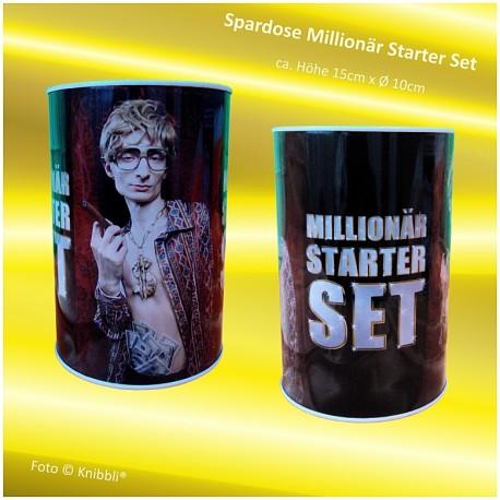 Metall-Spardose Millionär Starter Set