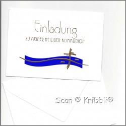 Einladungskarte mit Umschlag Kommunion 001