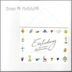 Einladungskarte mit Umschlag Kommunion 002