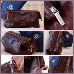 Elegante Kulturtasche aus Leder Orient-Express