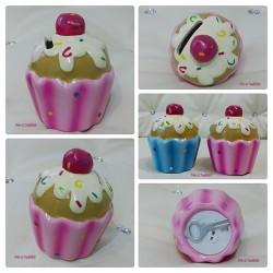 Keramik Spardose Cupcake Rosa Pink
