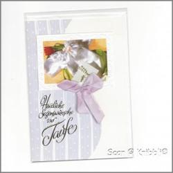 Taufe KlappKarte mit Umschlag 004
