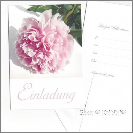 Einladungskarte Klappkarte mit Umschlag 003