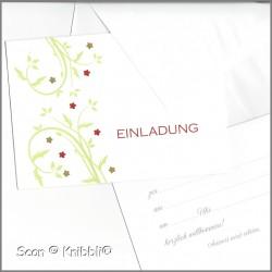 Einladungskarte Klappkarte mit Umschlag 004