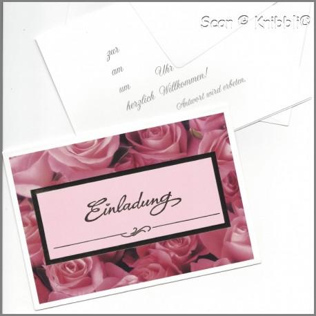 Einladungskarte Klappkarte mit Umschlag 005