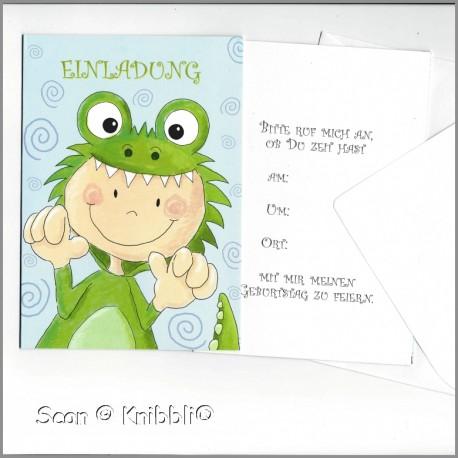 Einladungskarte mit Umschlag Geburtstag 001