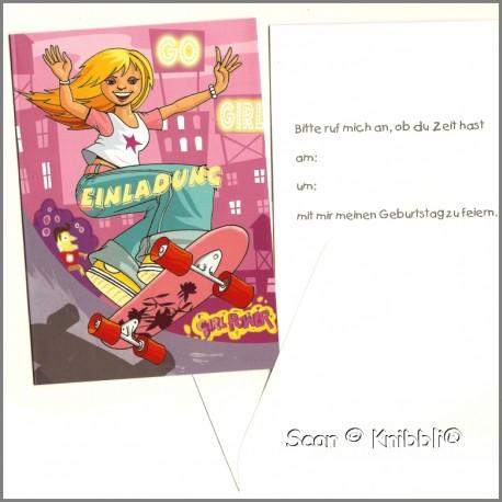 Einladungskarte mit Umschlag Geburtstag 002