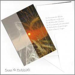 Danke Trauer Klappkarte mit Umschlag 002