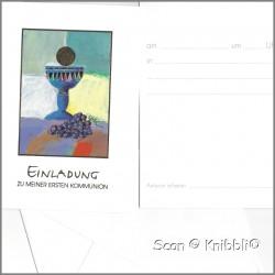 Einladungskarte mit Umschlag Kommunion 003