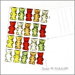 Postkarte Gummibärchen Motiv