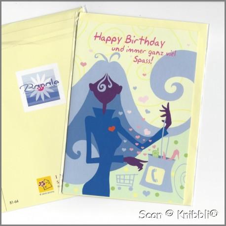 Geburtstagskarte Klappkarte mit Umschlag 002