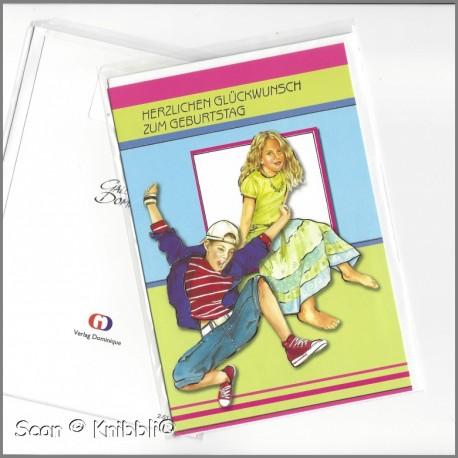 Geburtstagskarte Klappkarte mit Umschlag 004
