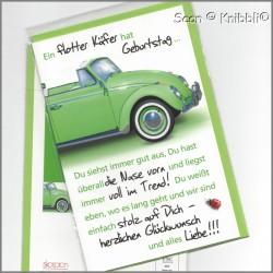 Geburtstagskarte Klappkarte mit Umschlag 007