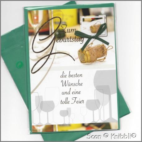 Geburtstagskarte Klappkarte mit Umschlag 010