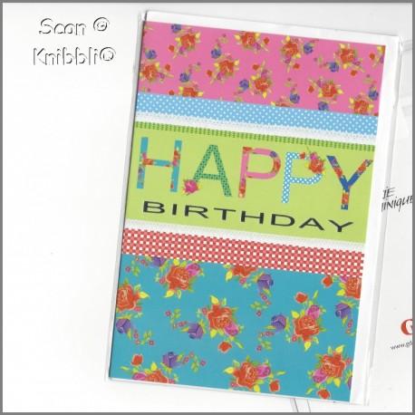 Geburtstagskarte Klappkarte mit Umschlag 014