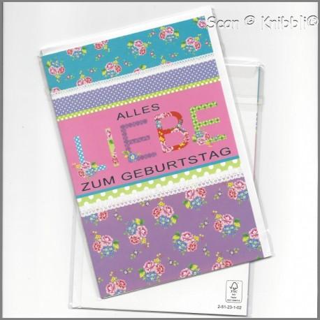 Geburtstagskarte Klappkarte mit Umschlag 015