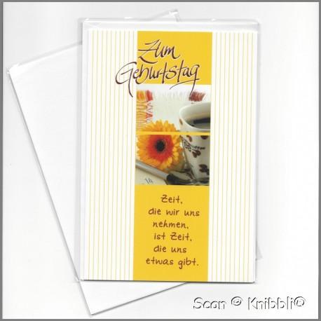 Geburtstagskarte Klappkarte mit Umschlag 016