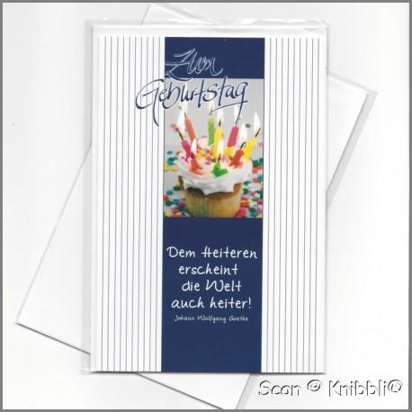 Geburtstagskarte Klappkarte mit Umschlag 017