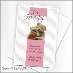 Geburtstagskarte Klappkarte mit Umschlag 019