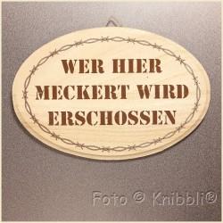 Schild Holz ca 12,5x18,5cm Spruch 12
